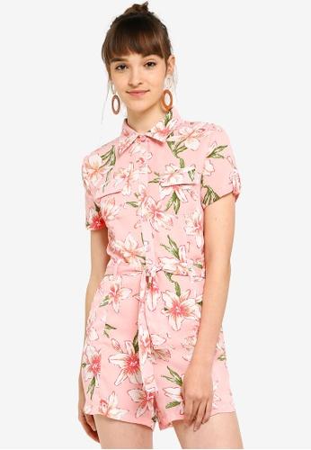 Something Borrowed 粉紅色 綁帶連身短褲 B5A3AAAA419D0DGS_1