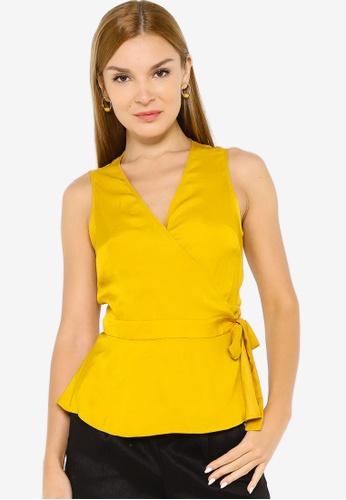 Banana Republic yellow Sleeveless Tie Wrap Top 4F1A8AA89D11C8GS_1