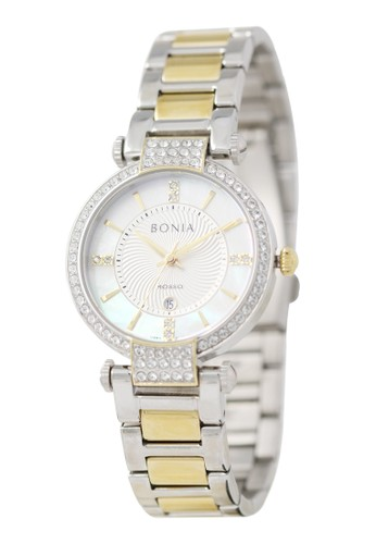 Bonia gold and silver Bonia Rosso - BR154-2152S - Jam Tangan Wanita - Silver Gold 2D278AC431253AGS_1