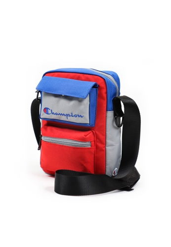 champion grey and blue Champion N Color Block Cross Body Shoulder Bag 49992ACD62D27CGS_1