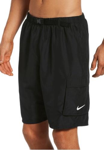 "Nike black Nike Swim Men's Belted Packable 9"" Volley Short C66BFUSA22FE23GS_1"