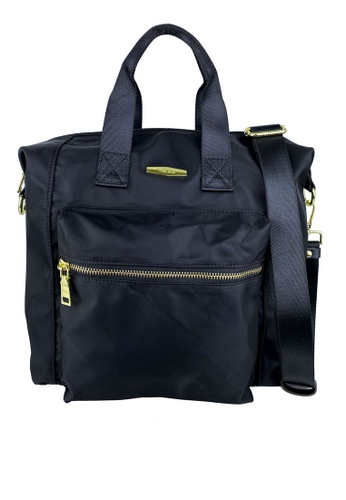 Mel&Co black Nylon Satchel Bag BC0E7ACE2D5E6BGS_1