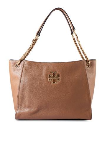 TORY BURCH brown Britten Small Slouchy Tote Bag (NT) 564C3AC0E8639BGS_1