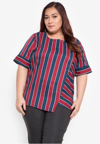 89a932c935a Shop Maxine Plus Size Short Sleeves Overlap Blouse Online on ZALORA  Philippines