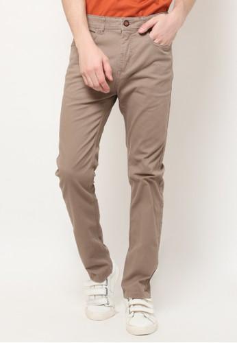 MGEE brown Mgee Casual Pants B95E0AA575A39BGS_1