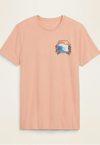 Old Navy pink Graphic Soft Washed Crew Neck Tee 78336AAE58E326GS_1