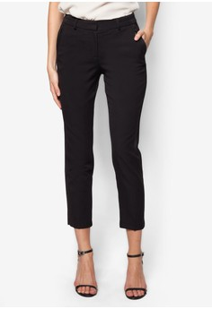 Petite Black Zip Pocket Trousers