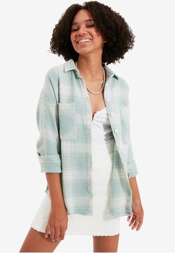 Trendyol green Long Sleeve Print Shirt 44F46AA1C712A1GS_1