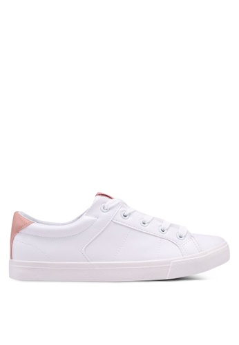 Dorothy Perkins white White Ivana Lace Up Trainers 0BC2DSHF9B663FGS_1