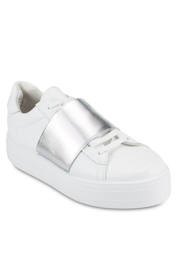 金屬感拼接厚底esprit女裝休閒鞋, 女鞋, 鞋
