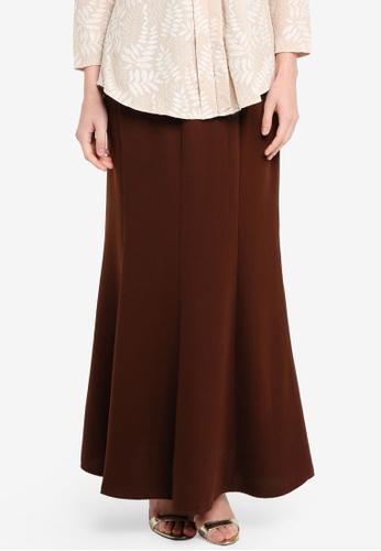 BYN brown Long Maxi Skirt 2E697AA9500FCCGS_1