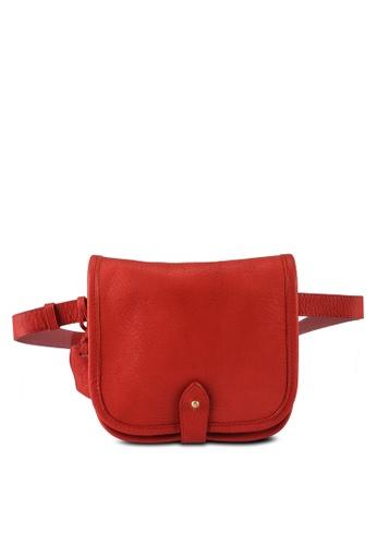 agnès b. red Flap Leather Waist Bag 35DF4AC3D3D95CGS_1