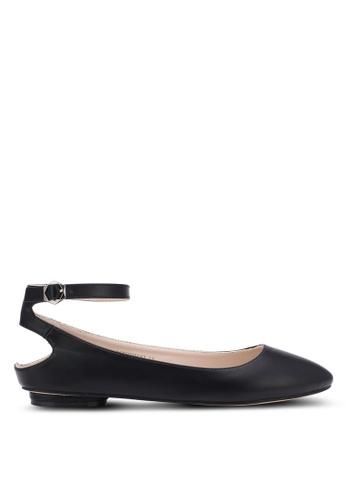 ZALORA black Ankle Cut-out Flats 15246SH9E28262GS_1