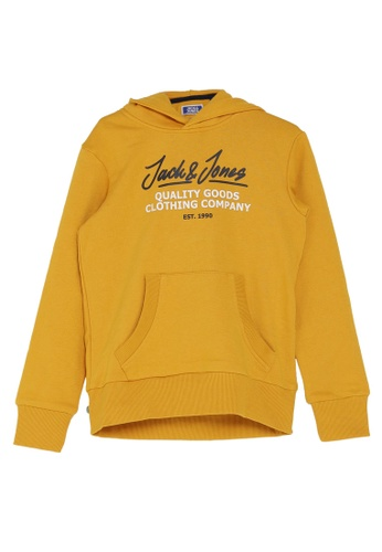 Jack & Jones orange Boys Kangaroo Pocket Hoodie 9DF42KA9D82DC2GS_1