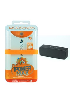 Powerbank 12000mAh With FREE Bluetooth Wireless Speaker