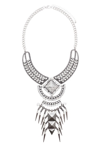LUCCACAL Imelda Statement Necklace LU294AC0SA0MMY_1