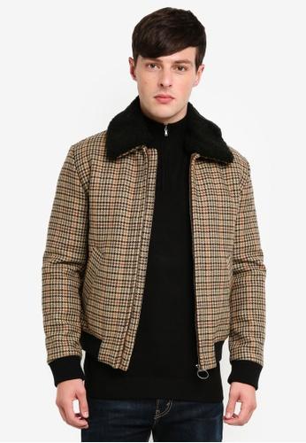 Selected Homme 褐色 羊毛外套 9C6CBAAB81FE80GS_1