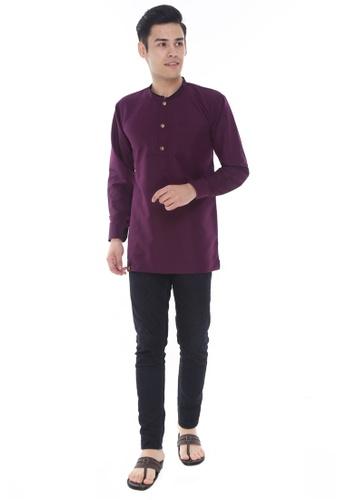 Amar Amran purple Kurta Al Hariz 799EFAAD34C48AGS_1