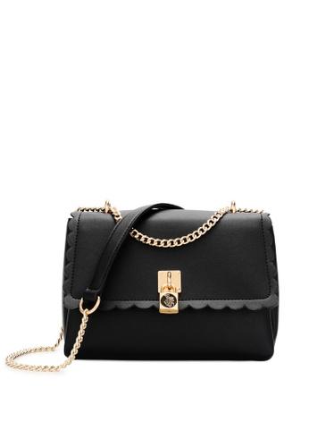 Swiss Polo black Chain Sling Bag 59A7CAC8FA2C52GS_1