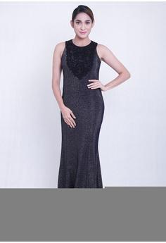 7ac707da2c26 East India Company black Vanya Maxi Dress AB899AA7F9396DGS 1