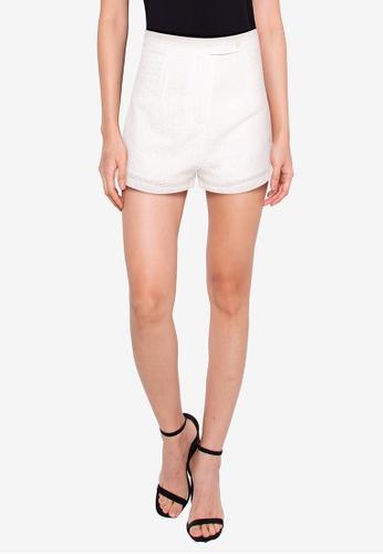 ZALORA BASICS white Eyelet Shorts AEB3EAA73EBD5EGS_1