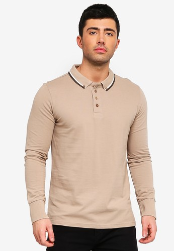 Brave Soul brown Kennedy Polo Shirt 9CCDDAAE2A45B1GS_1