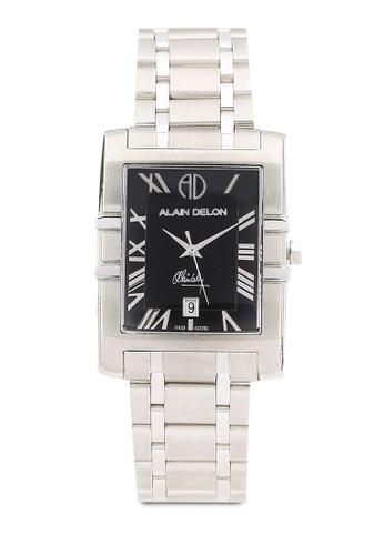 Alain Delon silver Alain Delon AD350-1331 Silver and Black Watch AL308AC0RBD8MY_1