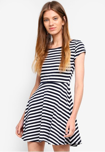 Cotton On multi Billie Cap Sleeve Skater Dress 5A235AA0D689F6GS_1