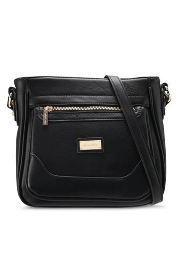 Perllini&Mel black Faux Leather Sling Bag PE444AC0SIZHMY_1