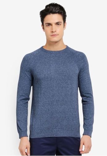 Burton Menswear London blue Core Crew Jumper BU964AA0SWM5MY_1