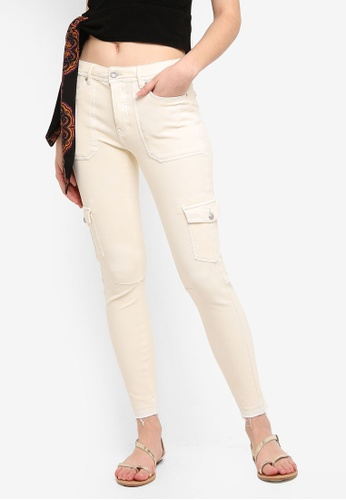 Free People beige Utility Skinny Pants DABABAA784A116GS_1