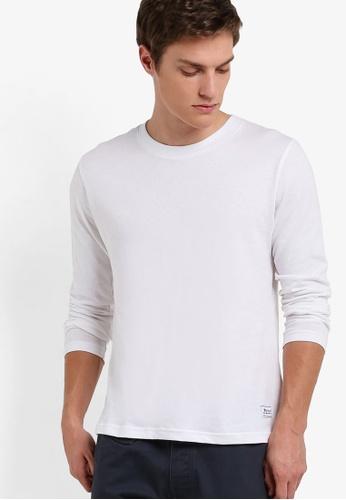 UniqTee white Eco Fabric Long Sleeve Tee UN097AA46RENMY_1