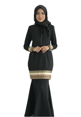 Farosa Kurung Alesha Black from Farosa in Black