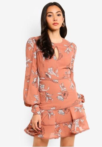 Bardot brown Tammy Trim Dress 34EE1AA61BB92BGS_1