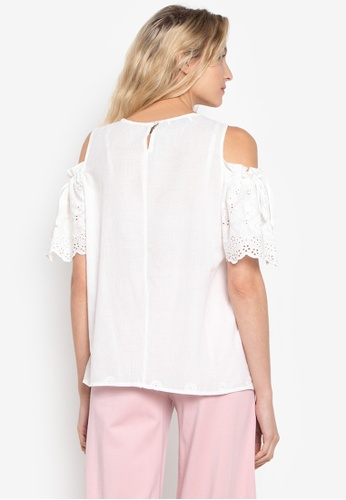 1722dba7f02f1a Shop CIGNAL Cold Shoulder Blouse Online on ZALORA Philippines