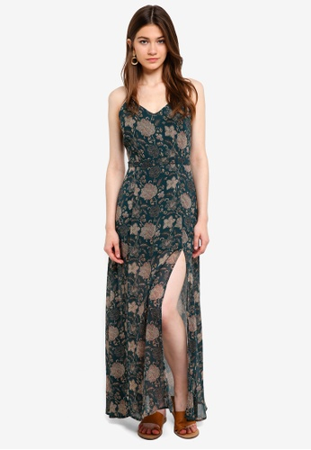 Something Borrowed green Cami Maxi Dress With High Slits 75527AA5C34E15GS_1
