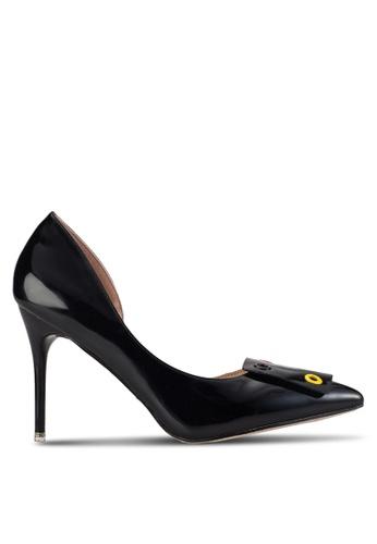 Velvet black Pam Buckle D'Orsay Heels 3747ESH50F28ADGS_1