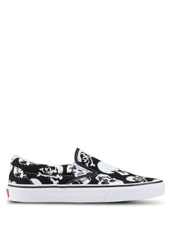 VANS black and white Skulls Slip-Ons 89640SHCD675CCGS_1