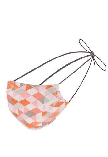Red's Revenge orange Geometric Hijab Friendly Washable Mask 6DDFEES980BEBEGS_1