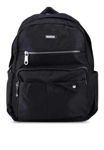 NUVEAU black Lightweight Nylon Backpack 8B5EBAC525A8C9GS_1