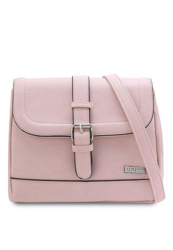 Unisa pink Faux Leather Sling Bag UN821AC70QTXMY_1