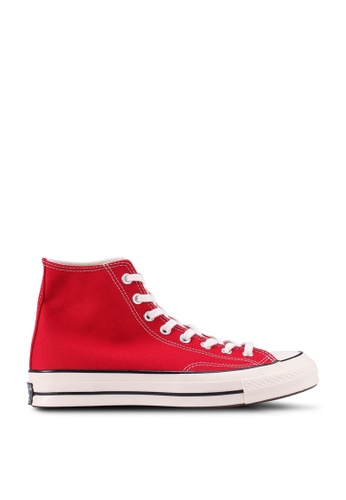 Converse red Chuck Taylor All Star 70 Vintage Canvas Hi Sneakers B31D1SH78A3E35GS_1