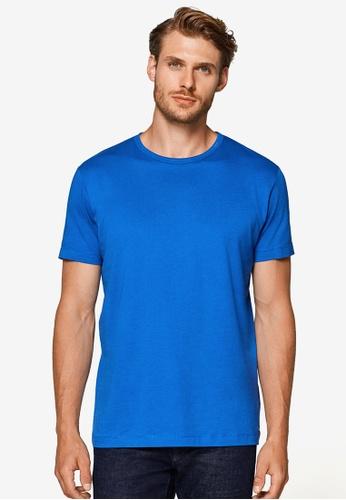ESPRIT 藍色 短袖T恤 803AEAAC20925BGS_1