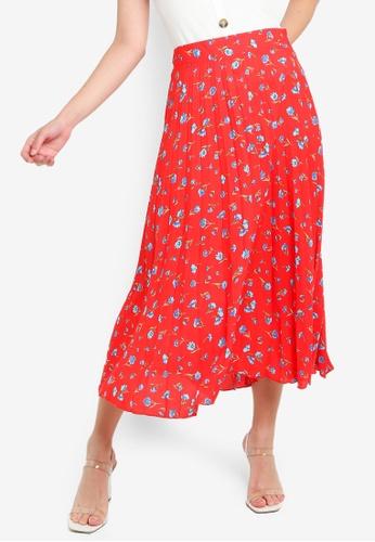 6c17b70592555e Buy Dorothy Perkins Red Ditsy Pleat Skirt Online | ZALORA Malaysia
