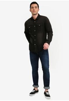 508180f9dfe 15% OFF Brave Soul Yondu Black Wash Denim Shirt RM 195.00 NOW RM 165.90  Sizes S M L XL