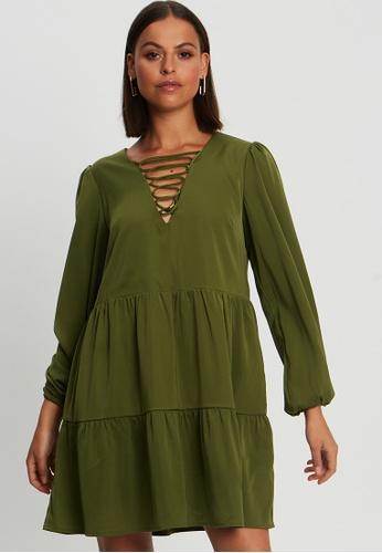 BWLDR green Faithful Dress 59BACAA6BC9D17GS_1