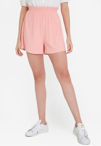 ZALORA BASICS pink Paperbag Shorts 72702AAAB63CE8GS_1
