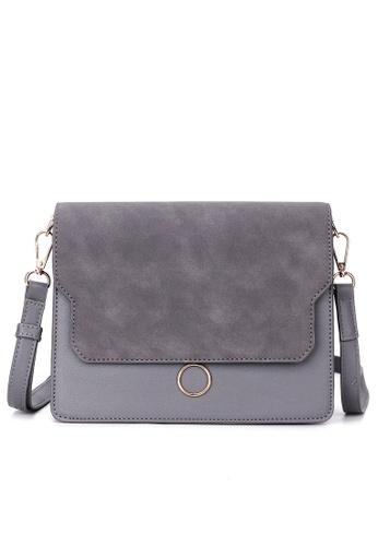 Zafiti grey Top Flap Bag 224A8ACFC556ECGS_1