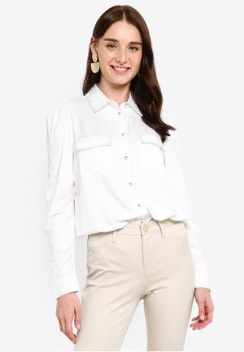 River Island white Long Sleeve Lurex Shirt 311CDAA0F33DA4GS_1