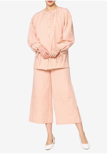 ZALIA BASICS pink Striped Top with Pants Set 22AABAA610181FGS_1